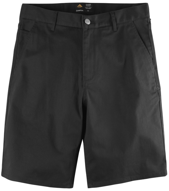 PURE CHINO SHORT - BLACK - hi-res