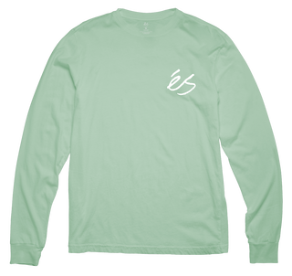 SCRIPT LONG SLEEVE - MINT - hi-res