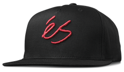 SCRIPT SNAPBACK - BLACK/RED - hi-res