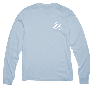 SCRIPT LONG SLEEVE - LIGHT BLUE - hi-res