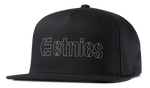 CORPORATE 5 SNAPBACK HAT - BLACK/GREY - hi-res | Etnies