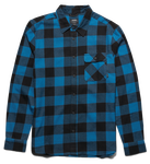 AXEL L/S FLANNEL - BLUE/BLACK - hi-res | Etnies