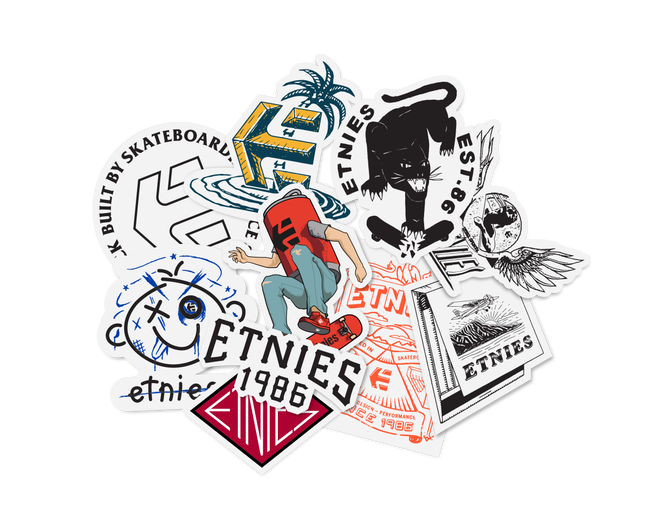 ASSORTED STICKER PACK - NO COLOR - hi-res | Etnies