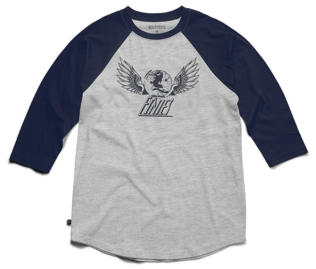 Winged Heritage Raglan - NAVY/HEATHER - hi-res | Etnies