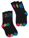 ETNIES  X BONES 3 PACK SOCKS - BLACK - hi-res | Etnies