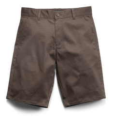 E1 Chino Short (Slim) - BROWN - hi-res