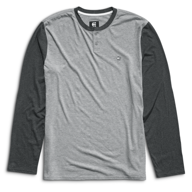 Transfer LS Henley - GREY/HEATHER - hi-res | Etnies