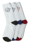 Legacy 3 Pack Socks - WHITE - hi-res | Etnies