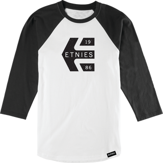 STAMP RAGLAN - BLACK/WHITE - hi-res | Etnies
