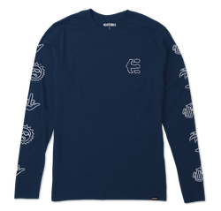 GOOD TIMES L/S - NAVY - hi-res | Etnies