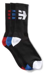DIRECT 3 PACK SOCKS - BLACK - hi-res | Etnies