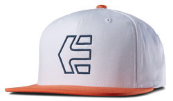 Icon 7 Snapback Hat - WHITE/ORANGE - hi-res