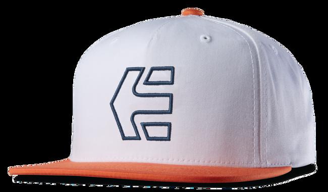 Icon 7 Snapback Hat - WHITE/ORANGE - hi-res | Etnies