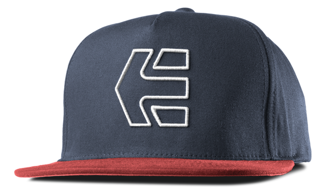ICON 7 SNAPBACK HAT - RED/NAVY - hi-res | Etnies