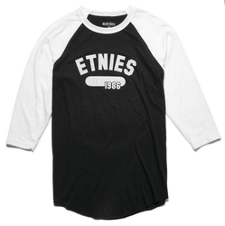LEAD OFF RAGLAN - BLACK/WHITE - hi-res | Etnies