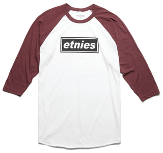 LEAD OFF RAGLAN - WHITE/BURGUNDY - hi-res | Etnies