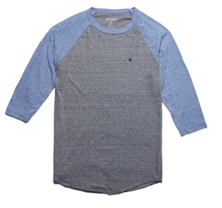 LEAD OFF RAGLAN - GREY/BLUE - hi-res | Etnies