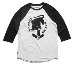 Shatter Raglan - BLACK/WHITE - hi-res