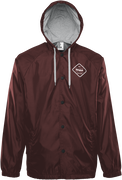 SORREN HOODED COACH JACKET - BURGUNDY - hi-res