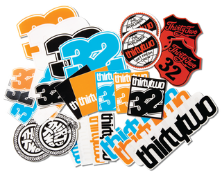 32 VINYL STICKER PACK - NO COLOR - hi-res