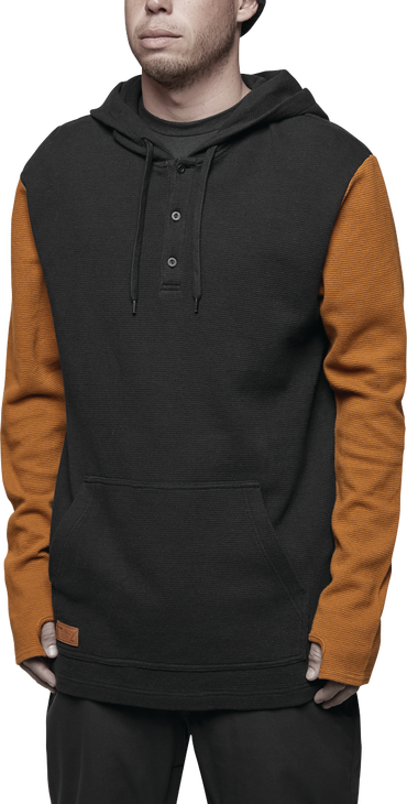 DIXON THERMAL HOODED L/S - BLACK - hi-res