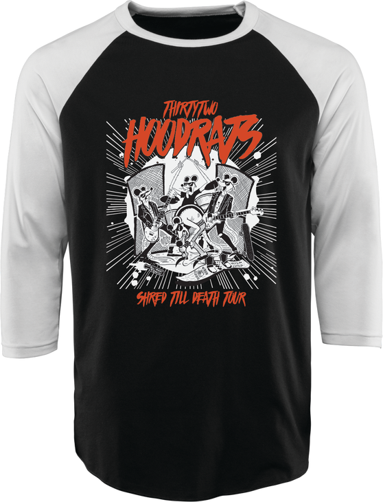SHRED TILL DEATH HOOD RATS BASEBALL TEE -  - hi-res