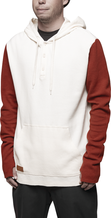 DIXON THERMAL HOODED L/S - DIRTY WHITE - hi-res