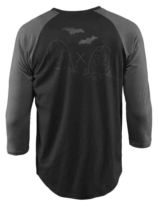 TOMBSTONE RAGLAN - BLACK - hi-res
