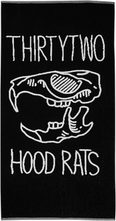 HOOD RATS TOWEL - BLACK - hi-res