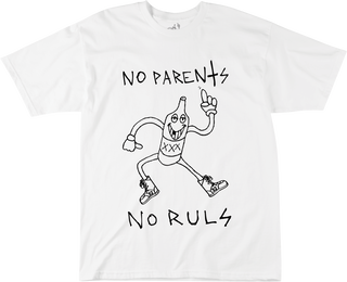 NO PARENTZ - WHITE - hi-res