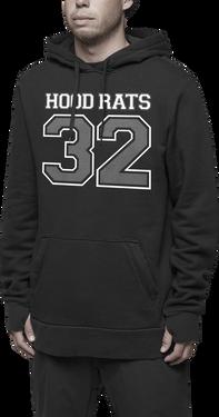 HOOD RATS TEAM HOODED PULLOVER - BLACK - hi-res