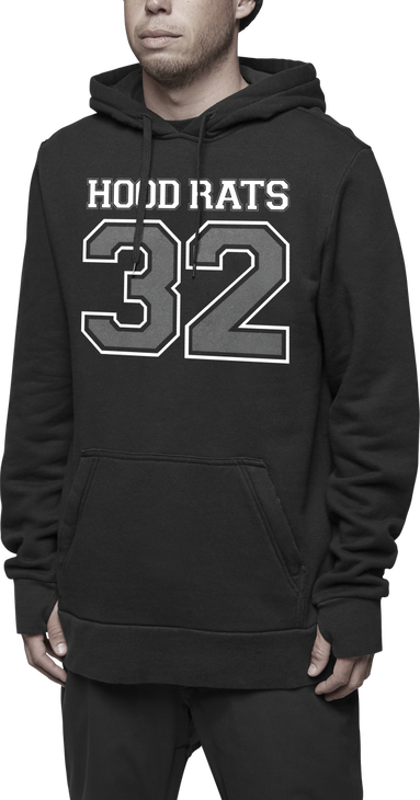 HOOD RATS TEAM HOODED PULLOVER - BLACK - hi-res