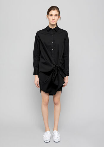 Tie Front Cotton Poplin Shirt Dress - Thakoon