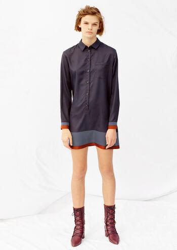 Scarf Print Shirtdress - Thakoon