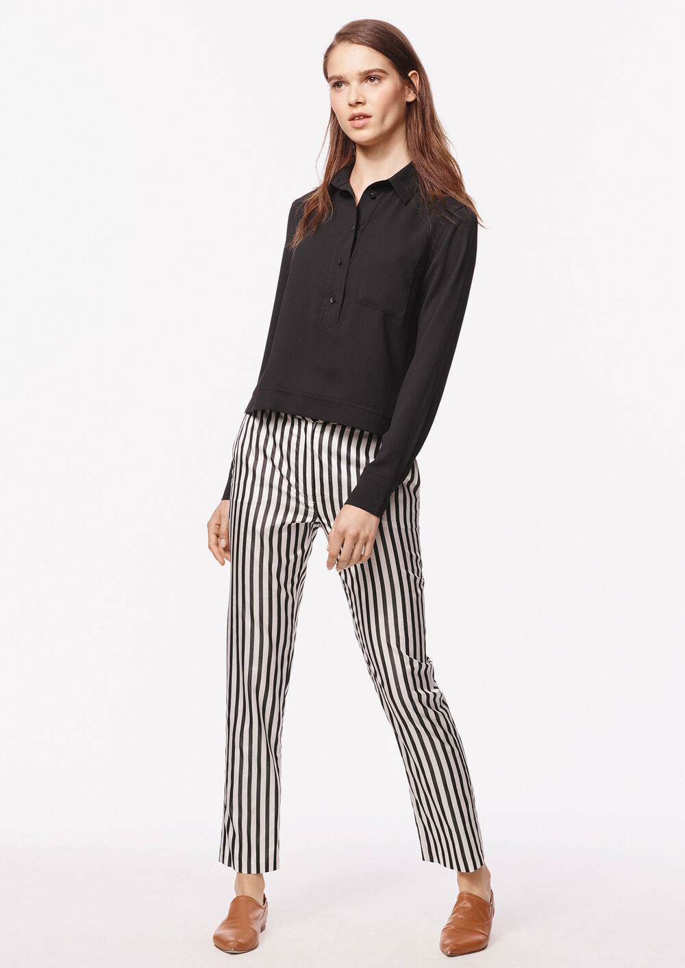 Stripe Silk Pants