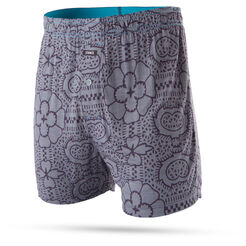 TILE CHECK BOXER | GREY | S