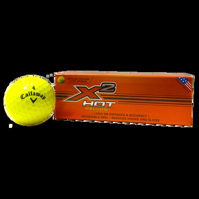 X2 Hot Yellow Golf Ball (3-pack)