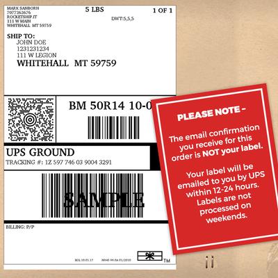 Return/Trade Shipping Label