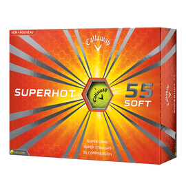 Superhot 55 Yellow Personalized Golf Balls