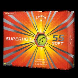 Superhot 55 Yellow Logo Golf Balls
