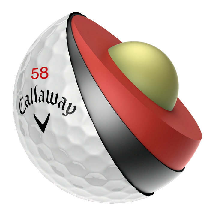 "Limited Edition Chrome Soft ""58"" Golf Balls"