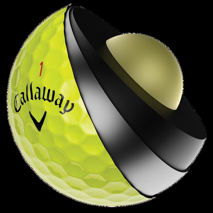 Chrome Soft X Yellow Golf Balls