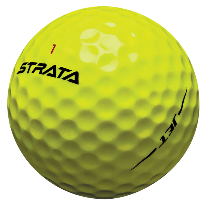 Strata Jet Yellow Golf Balls