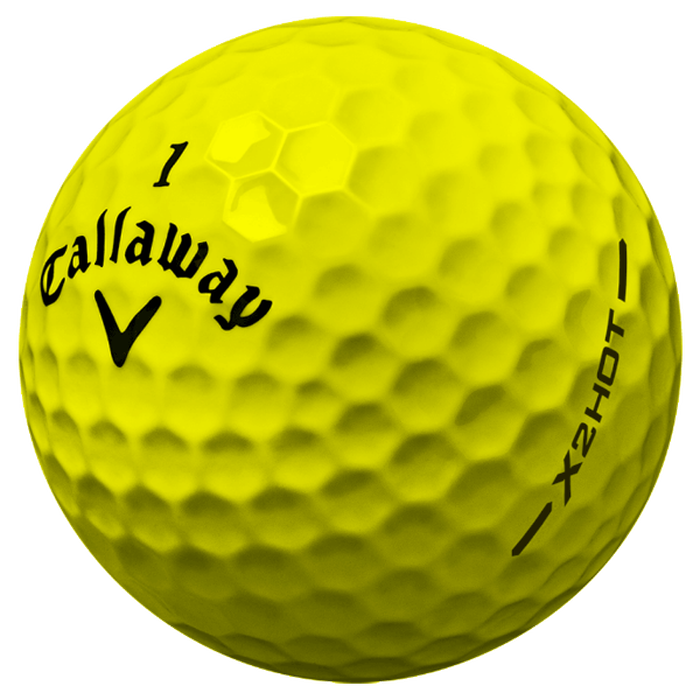 X2 Hot Yellow Golf Balls