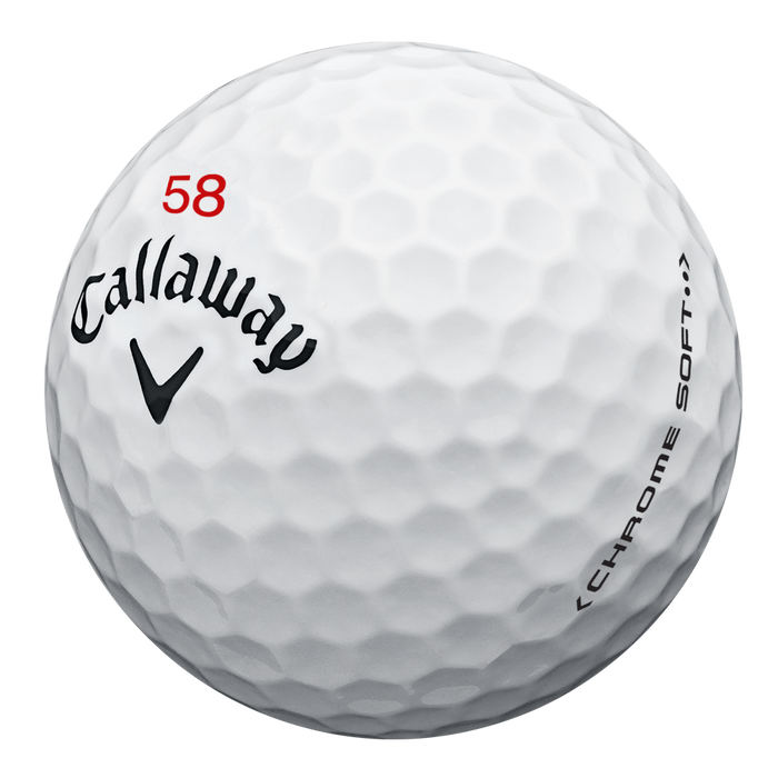 "Limited Edition Chrome Soft ""58"" Golf Balls"