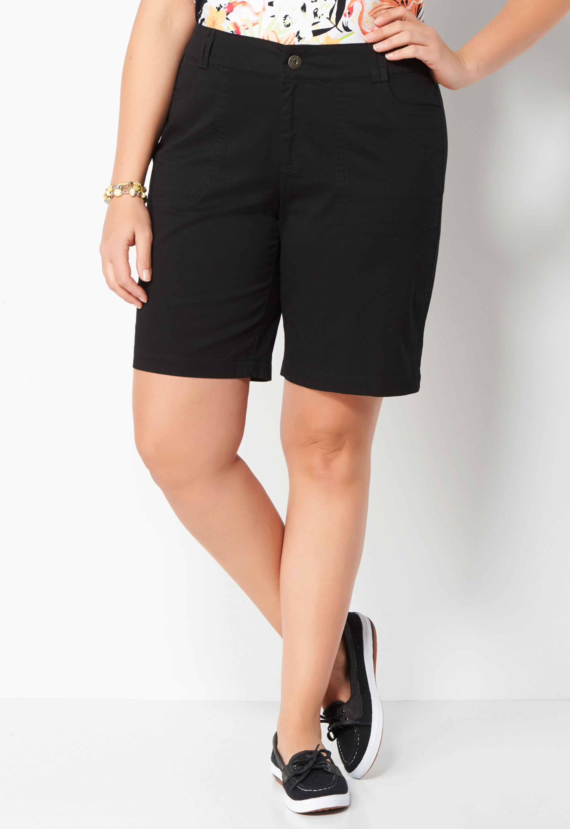 Women's Plus Size Capris, Shorts, & Skorts: Christopher & Banks ...