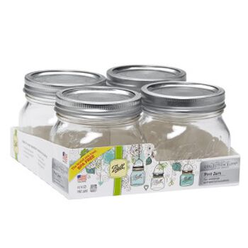Ball® Collection Elite® Special Occasion Wide Mouth Pint 16 oz. Glass Mason Jars, 4 count