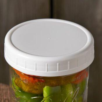 ball wide mouth plastic mason jar storage caps 8 ct. Black Bedroom Furniture Sets. Home Design Ideas