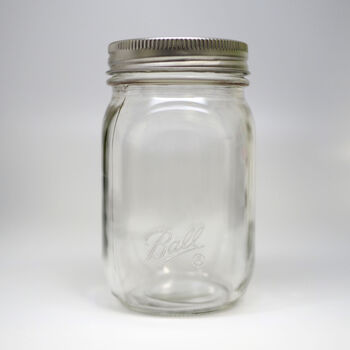 Ball® Smooth-Sided Regular Mouth Pint 16 oz. Glass Mason Jars, 12 count