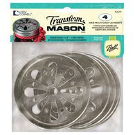 Transform Mason® Wide Mouth Daisy Lid Inserts for Mason Jars, 4 count, , hi-res